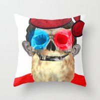 xmas Throw Pillows featuring Xmas by Marko Köppe