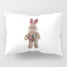 Wether plush toy low poly graphic Pillow Sham
