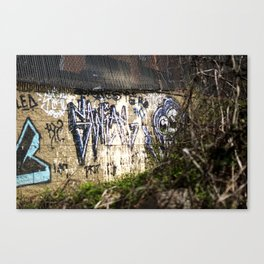 Graffiti with look at Me Canvas Print