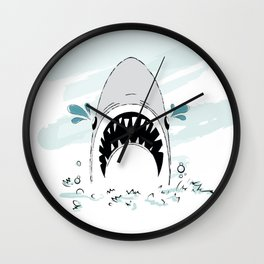 Crying Shark Wall Clock