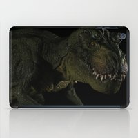 t rex iPad Cases featuring T-Rex by if0nly