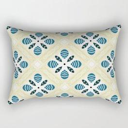 ink blue trinkets square pattern Rectangular Pillow