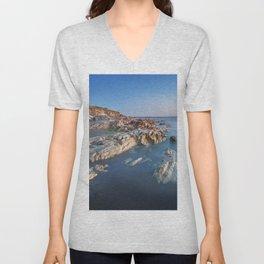 Ocean and Rocks Unisex V-Neck