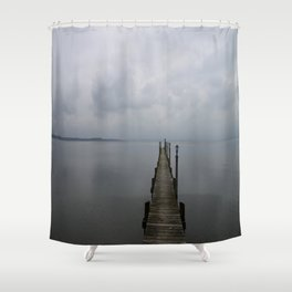 Lake Chiemsee In A Mist Shower Curtain