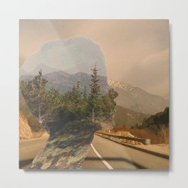 Scenic Mountainside Drive 1 Metal Print