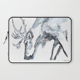 Watercolor Reindeer Sketch Laptop Sleeve