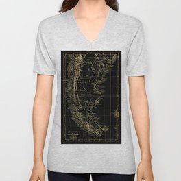 Patagonia - Black and Gold Unisex V-Neck
