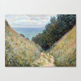 1882-Claude Monet-Road at La Cavée, Pourville-60 x 81 Canvas Print