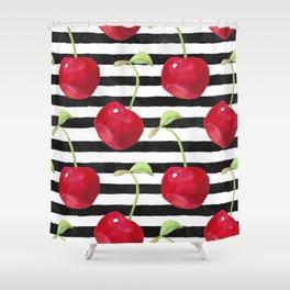 Cherry pattern Shower Curtain