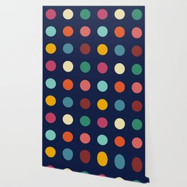 Colorful Abstract Retro Colors Dots - Nissyen Wallpaper