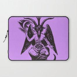 Baphomet on Purple Laptop Sleeve
