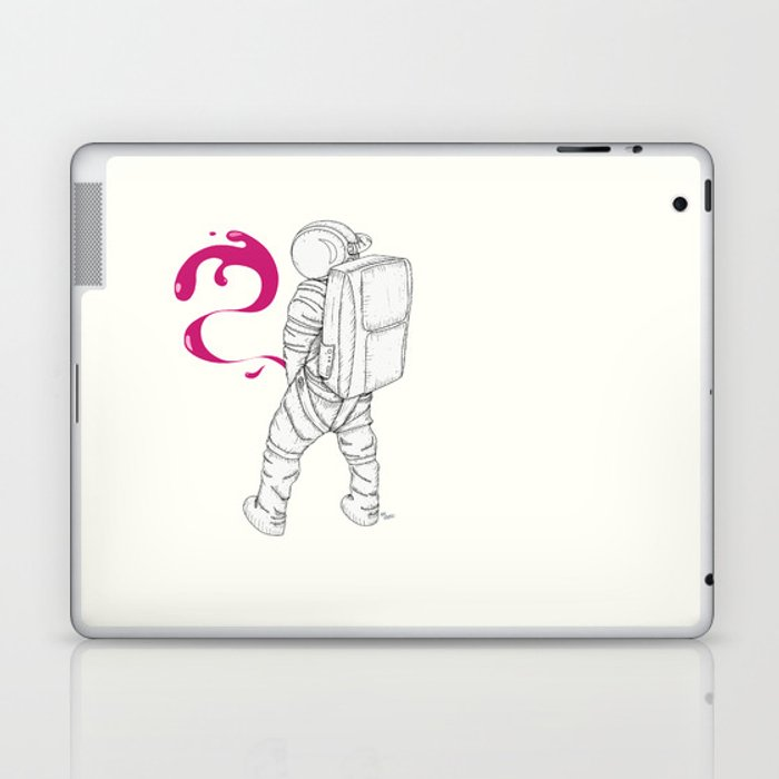 P{ee}ink in Space Laptop & iPad Skin