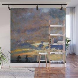 Johan Christian Dahl Cloud Study with Sunbeams Wall Mural