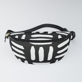 Black Mudcloth Pattern Fanny Pack