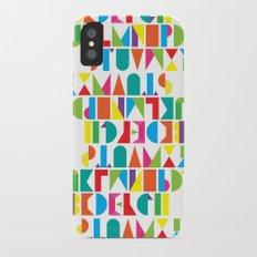 Alphabet iPhone X Slim Case