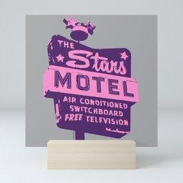 Seeing Stars ... Motel ... (Purple/Pink/Grey) Mini Art Print