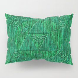 Zelda Green Art Triforce Pillow Sham