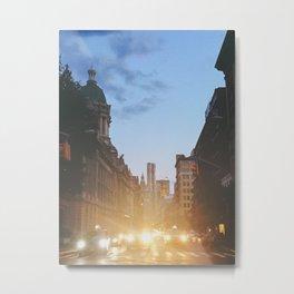 New York City Evening Lights Metal Print