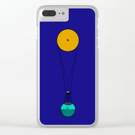 Solar Eclipse Illustrated Clear iPhone Case