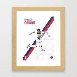 Edinson Cavani Poster Framed Art Print