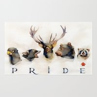pride Area & Throw Rugs featuring Pride by Dmitry Fevralev