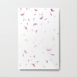 Dandelion Seeds Lesbian Pride (white background) Metal Print