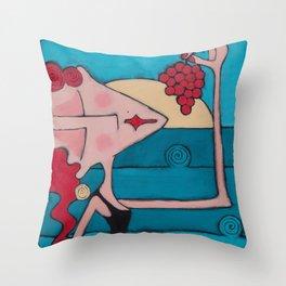 Bella Rossa Throw Pillow