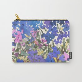 Blue Periwinkle Wildflowers Carry-All Pouch