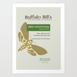 Buffalo Bil's Body Lotion Art Print