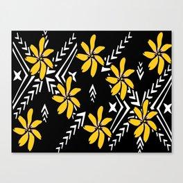 Yellow Tiare Canvas Print