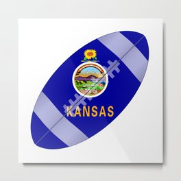 Kansas State USA Football Flag Metal Print