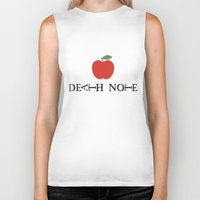 death note Biker Tanks featuring Death Note Apple by Thomas Official