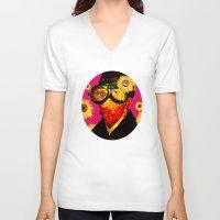 van gogh V-neck T-shirts featuring Pablo van Gogh 4 by Marko Köppe