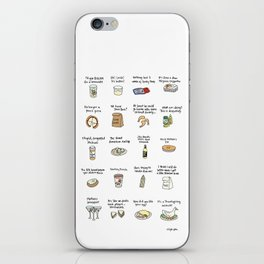 Foods of Arrested Development - Season 4 iPhone Skin