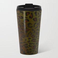 Modern Woodgrain Camouflage / Zaire KDP Print Metal Travel Mug