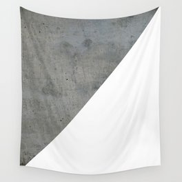 Concrete Vs White Wall Tapestry