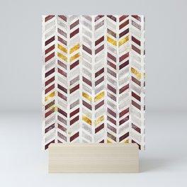 Modern Herringbone Chevron Pattern Painting Mini Art Print