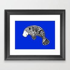 Blue Manatee Framed Art Print
