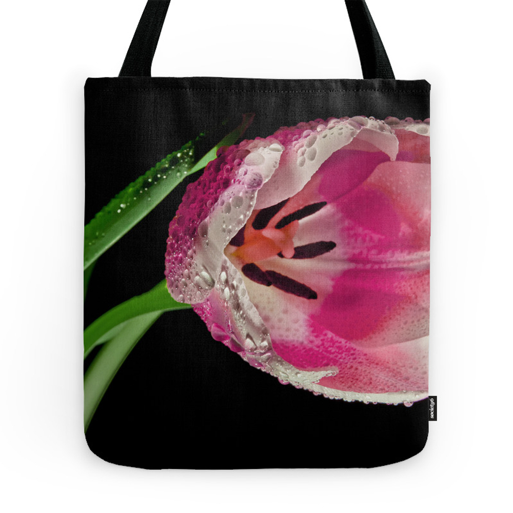Pink Spring Tulip Tote Purse by knm (TBG7764795) photo