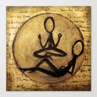 om Canvas Prints featuring om by woman