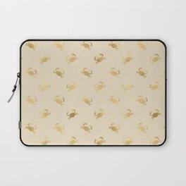 Little Golden Crab Pattern Laptop Sleeve