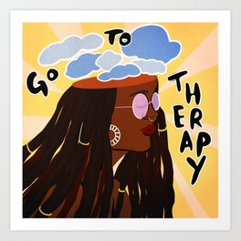Go To Therapy Art Print