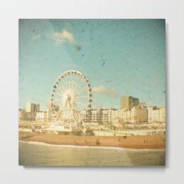 Brighton Wheel Metal Print