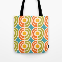 Mid Century Modern Solar Flares Pattern 2 Tote Bag
