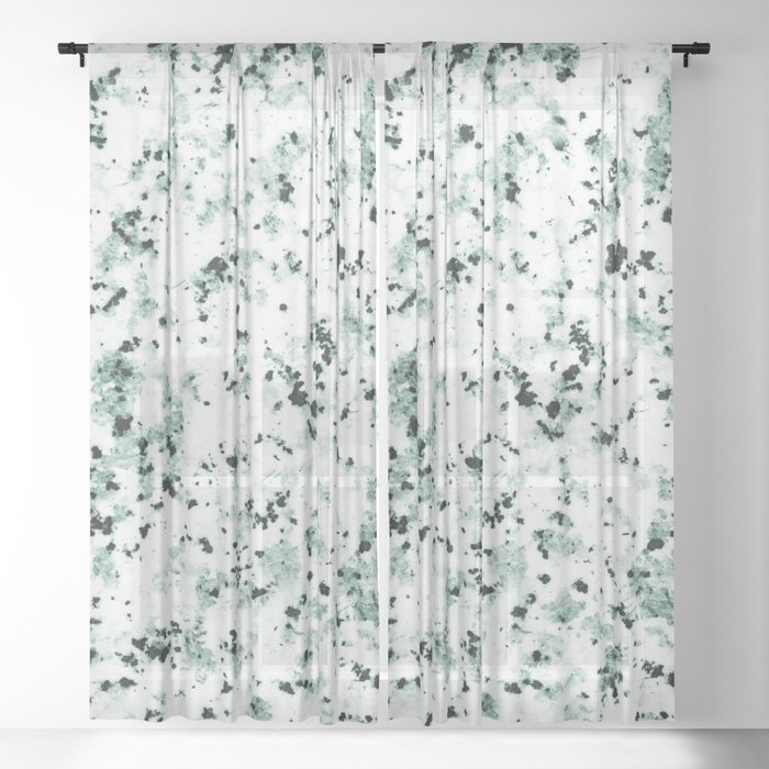Green Terrazzo Sheer Curtain