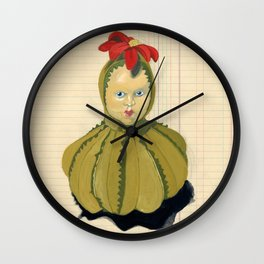 Creepiest Yet Most Wonderful Pincushion Ever in Gouache Wall Clock