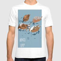 Duck Off Mens Fitted Tee White MEDIUM