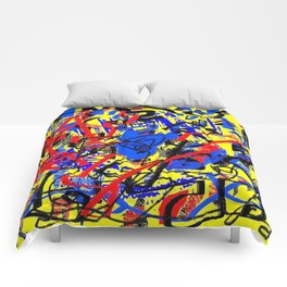 Abstract color Comforters