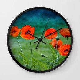 Poppies paradise Wall Clock