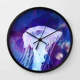 Polygonal jellyfish Wall Clock